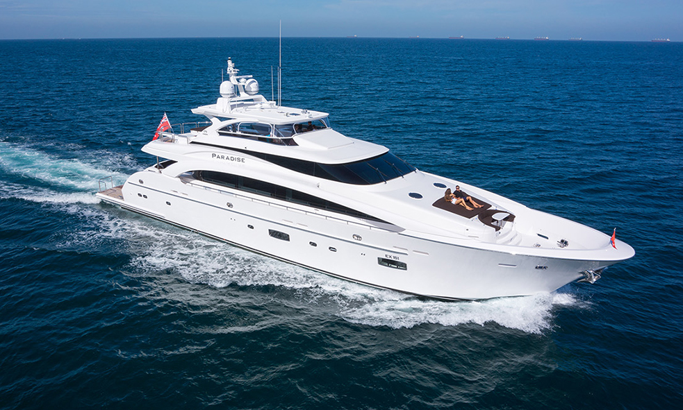 35M M/Y PARADISE From Horizon Yachts Joins Fraser Charter Fleet
