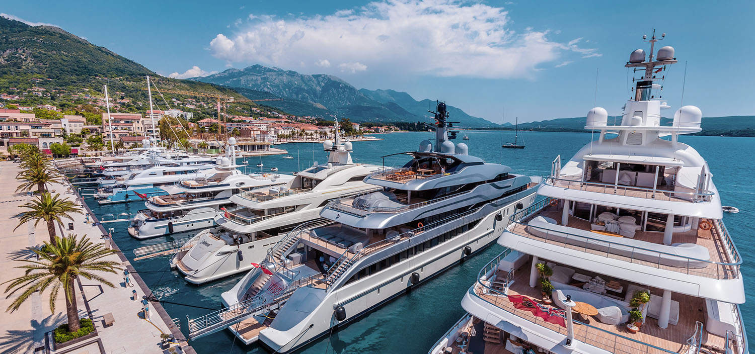 Superyacht berths have never been so scenic