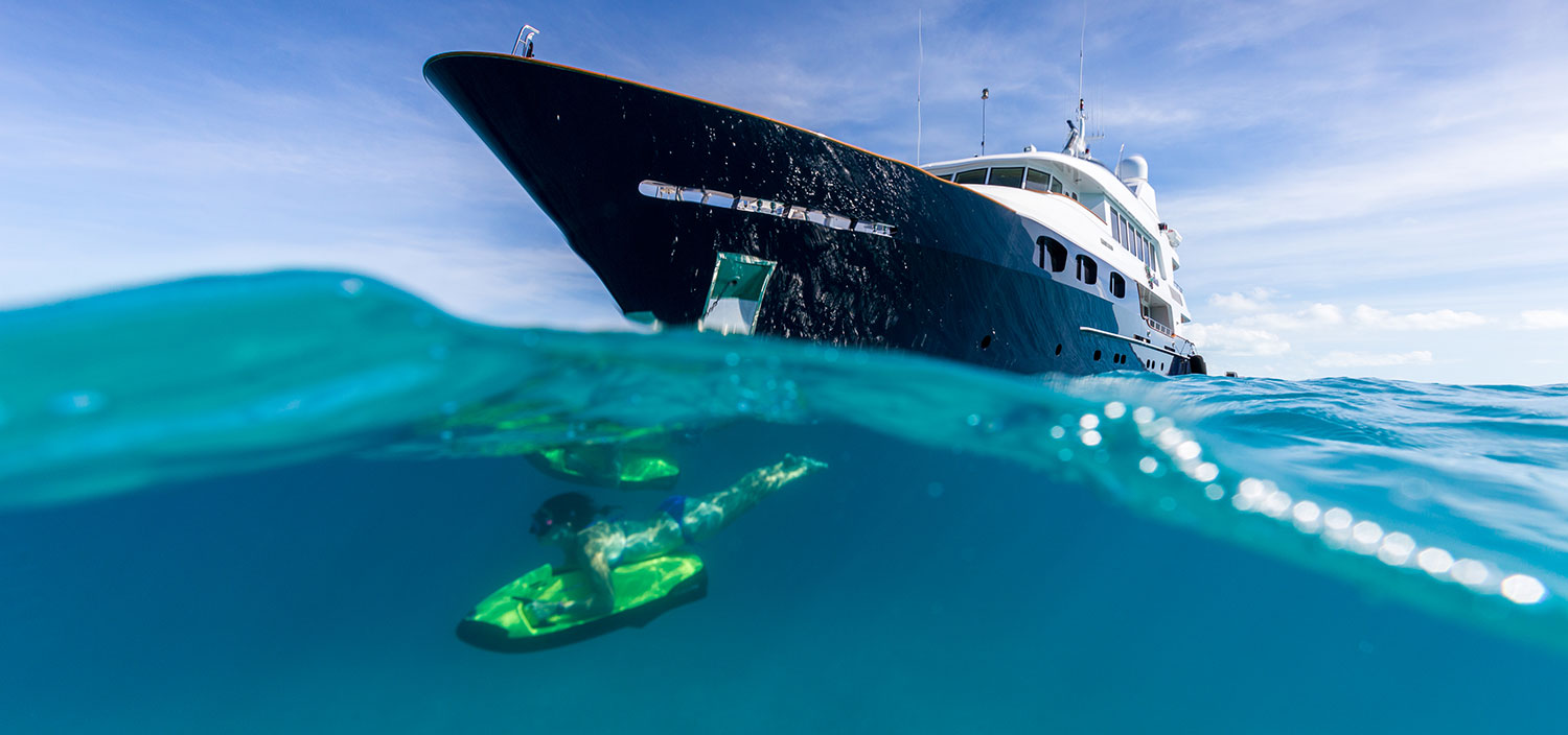 Explore the waters on a luxury yacht charter with Fraser