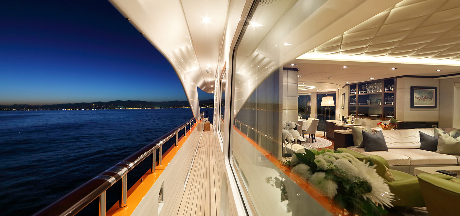 Step aboard indulgent luxury on a charter yacht with Fraser