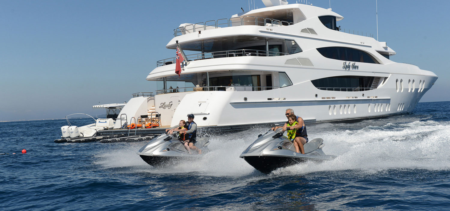 Jet-ski fun from a superyacht charter