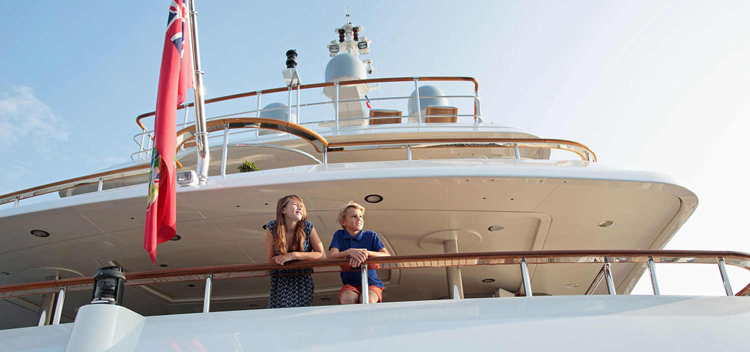 Enjoy the view from a charter superyacht with Fraser