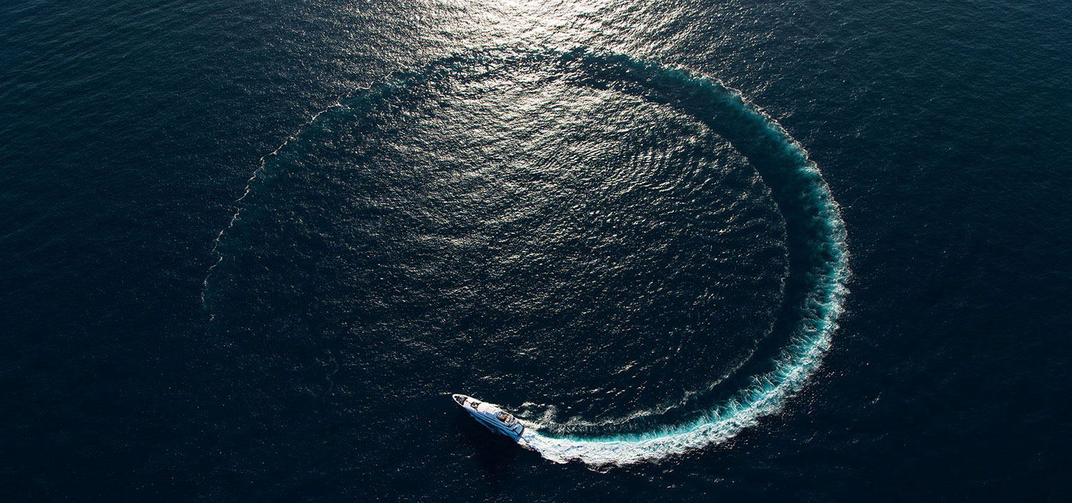 A Fraser superyacht charter carving waves
