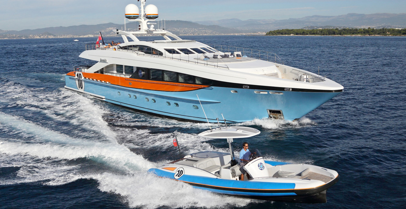 AURELIA charter superyacht underway
