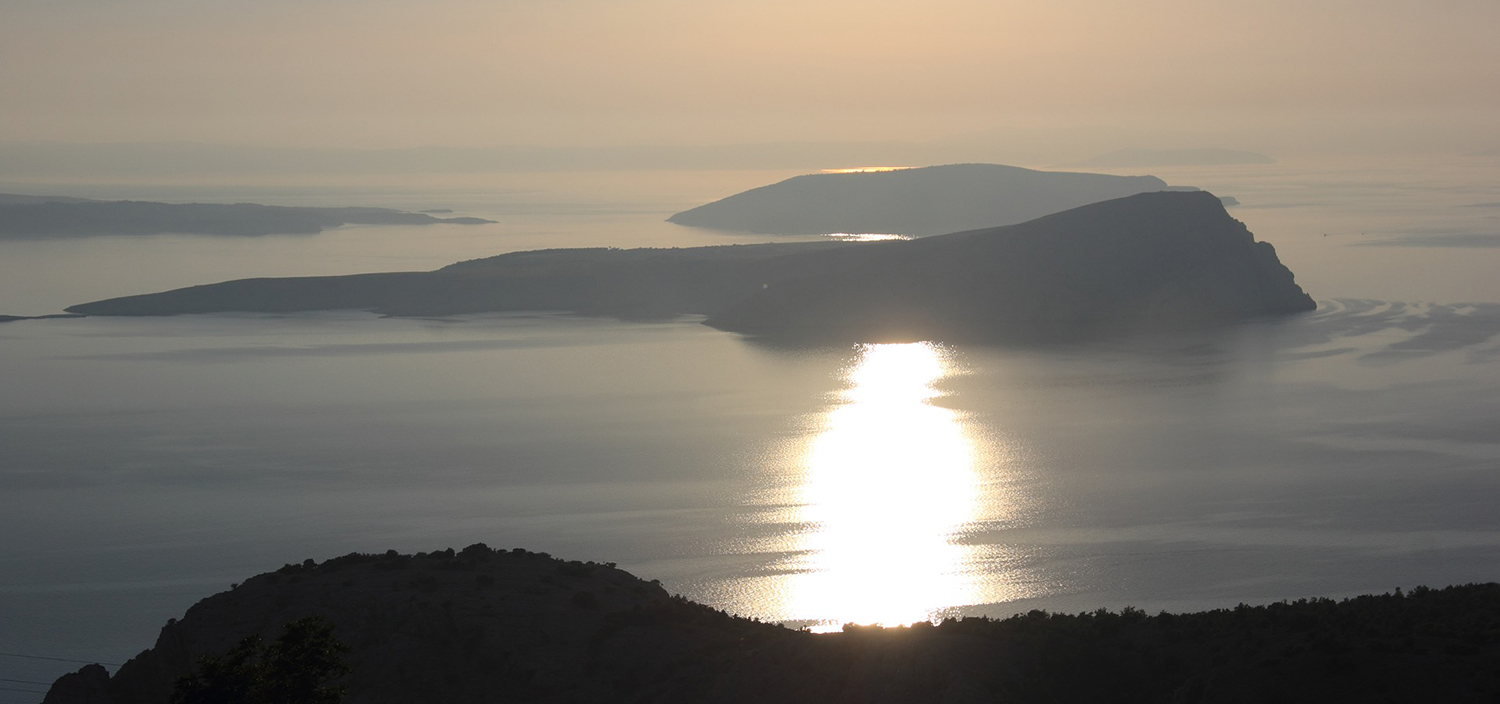 Adriatic yacht charter views of islands at sunset