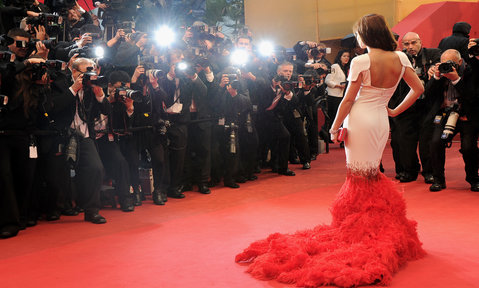 A red carpet event with photographers is a familiar sight on a Cannes yacht charter