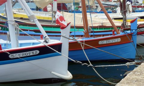 See the local fishing boats in the harbour on a St Tropez yacht charter