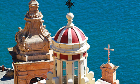 Enjoy sea views and church architecture on a Malta yacht charter