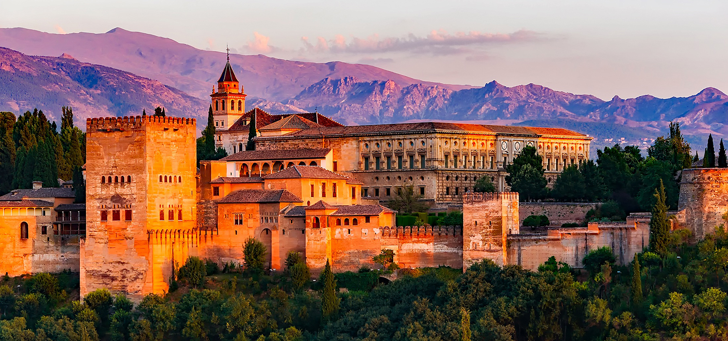 Spain yacht charter views of monastry on top of hill