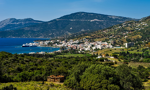 A Gulf of Gökova yacht charter follows a coast lined with picturesque towns and hilly scenery