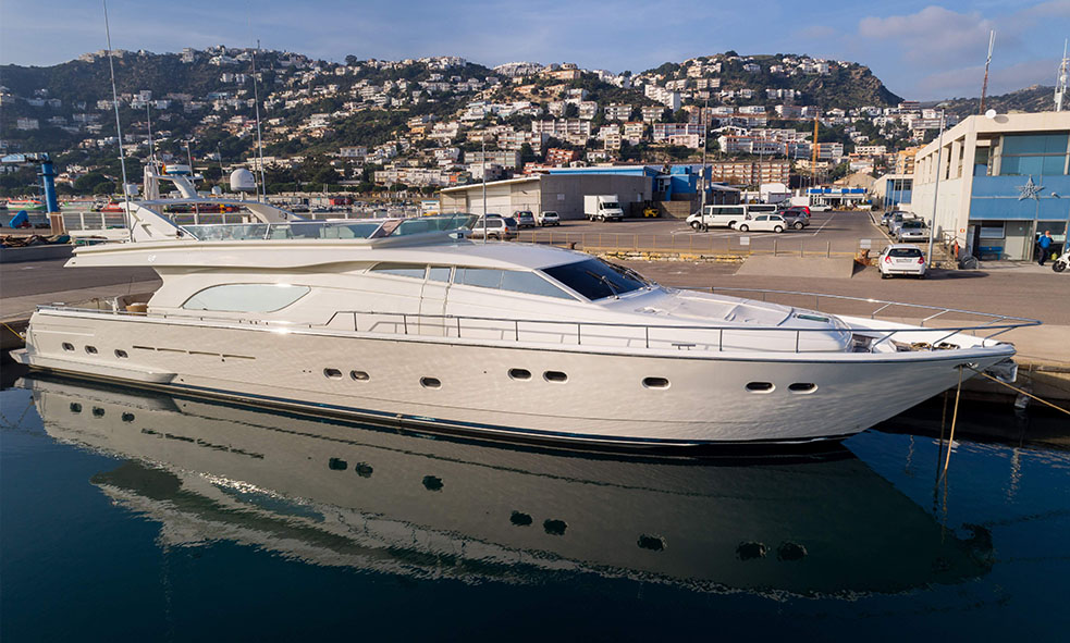 Ferretti-built M/Y Happy Hour for sale with Fraser
