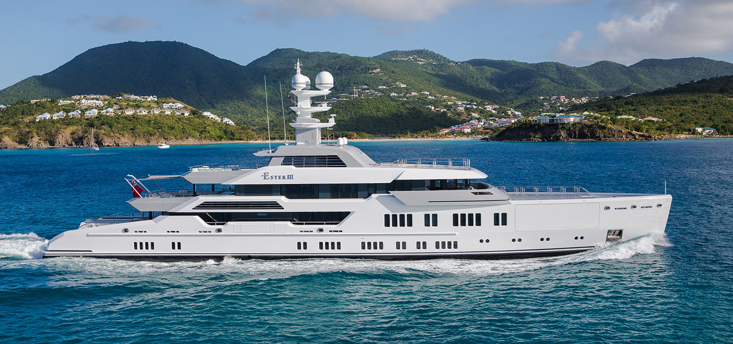 Ester III is a luxury super yacht built by Lurssen Yachts and sold by Fraser Yachts