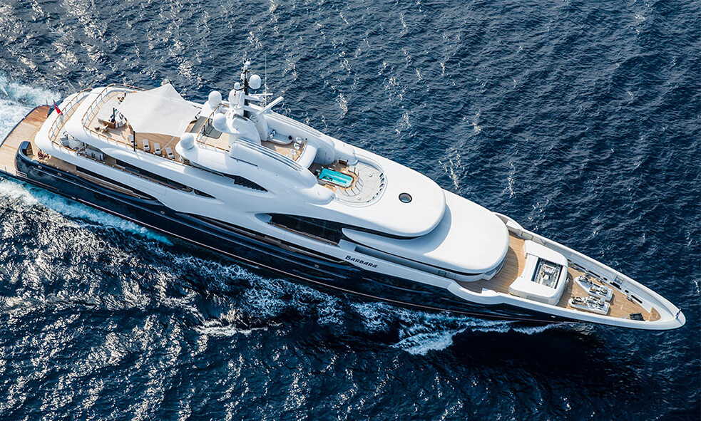 88.5m M/Y BARBARA Joins the Fraser Charter Fleet