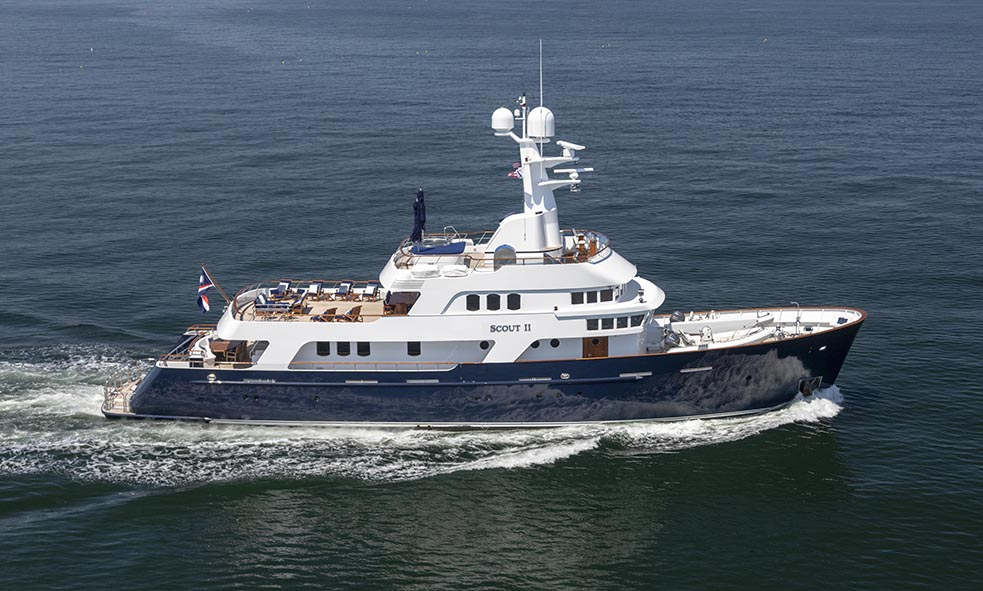 39.6m M/Y SCOUT II Explorer Yacht for sale with Fraser
